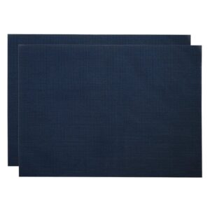 Sweet Pea Linens - Dark Blue Wipe Clean Rectangle Placemats - Set of Two (SKU#: RS2-1002-F21) - Product Image