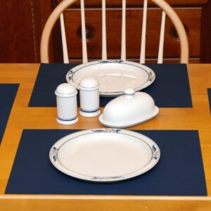 Dark Blue Wipe-Clean Table Linen Collection