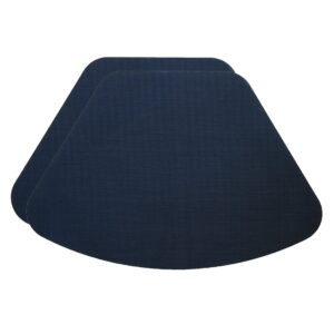 Sweet Pea Linens - Dark Blue Wipe Clean Wedge-Shaped Placemats - Set of Two (SKU#: RS2-1006-F21) - Product Image