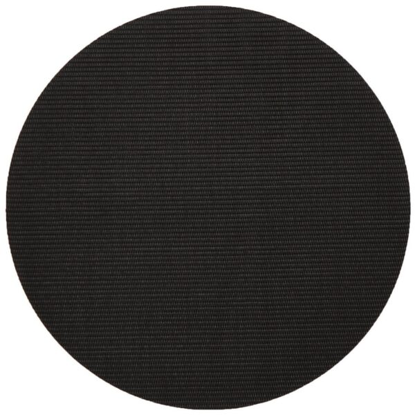 Sweet Pea Linens - Black Wipe Clean Charger-Center Round Placemat (SKU#: R-1015-F23) - Product Image