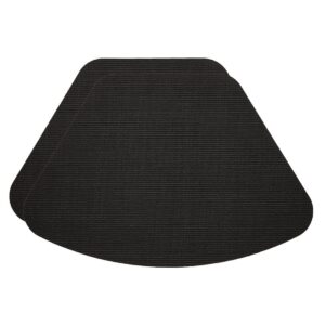Sweet Pea Linens - Black Wipe Clean Wedge-Shaped Placemats - Set of Two (SKU#: RS2-1006-F23) - Product Image