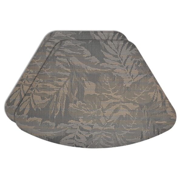 Sweet Pea Linens - Mocha Brown Leaf Wipe Clean Wedge-Shaped Placemats - Set of Two (SKU#: RS2-1006-F27) - Product Image