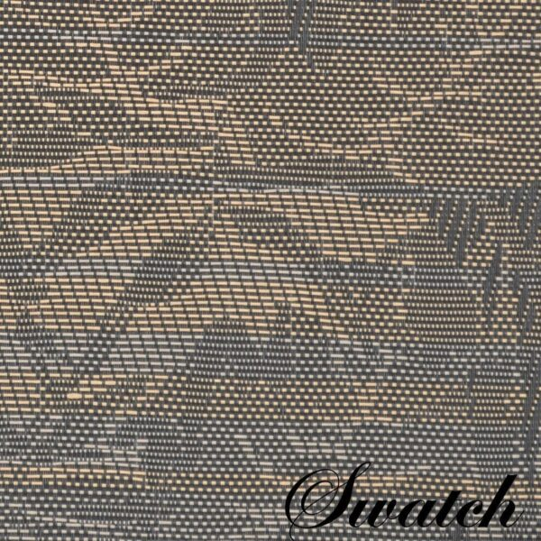 Sweet Pea Linens - Mocha Brown Leaf Wipe Clean Wedge-Shaped Placemats - Set of Four plus Center Round-Charger (SKU#: RS5-1006-F27) - Swatch