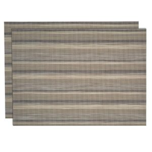 Sweet Pea Linens - Verde Striped Wipe Clean Rectangle Placemats - Set of Two (SKU#: RS2-1002-F29) - Product Image
