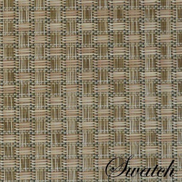 Sweet Pea Linens - Sage Green & Tan Wipe Clean Wedge-Shaped Placemats - Set of Two (SKU#: RS2-1006-F30) - Swatch