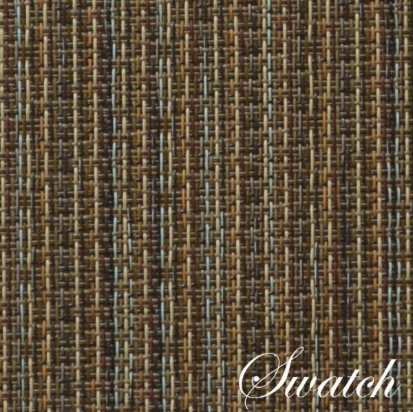 Sweet Pea Linens - Dark Brown & Blue Wipe Clean Charger-Center Round Placemat (SKU#: R-1015-F31) - Swatch