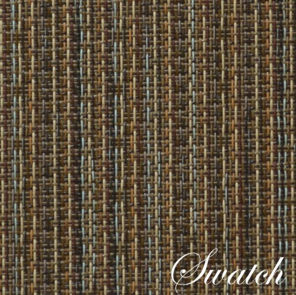 Sweet Pea Linens - Dark Brown & Blue Wipe Clean Wedge-Shaped Placemats - Set of Two (SKU#: RS2-1006-F31) - Swatch