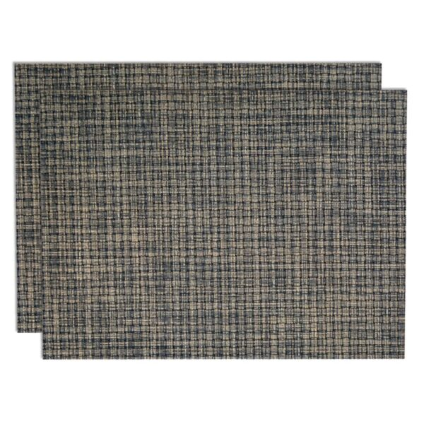 Sweet Pea Linens - Black, Gray & Tan Wipe Clean Rectangle Placemats - Set of Two (SKU#: RS2-1002-F32) - Product Image
