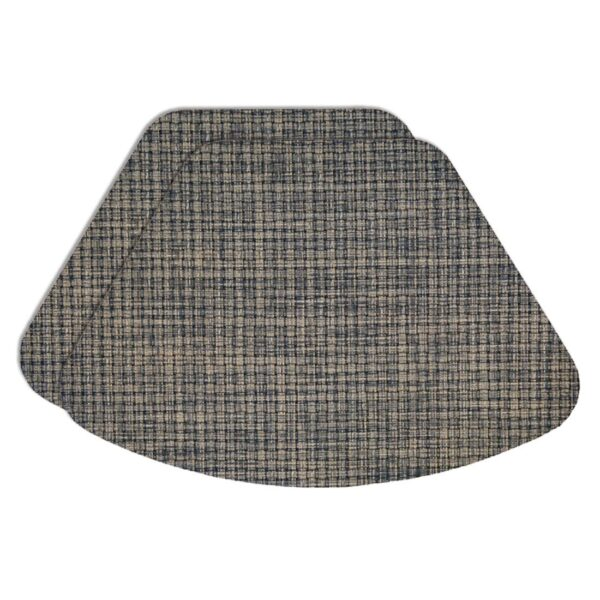 Sweet Pea Linens - Black, Gray & Tan Wipe Clean Wedge-Shaped Placemats - Set of Two (SKU#: RS2-1006-F32) - Product Image