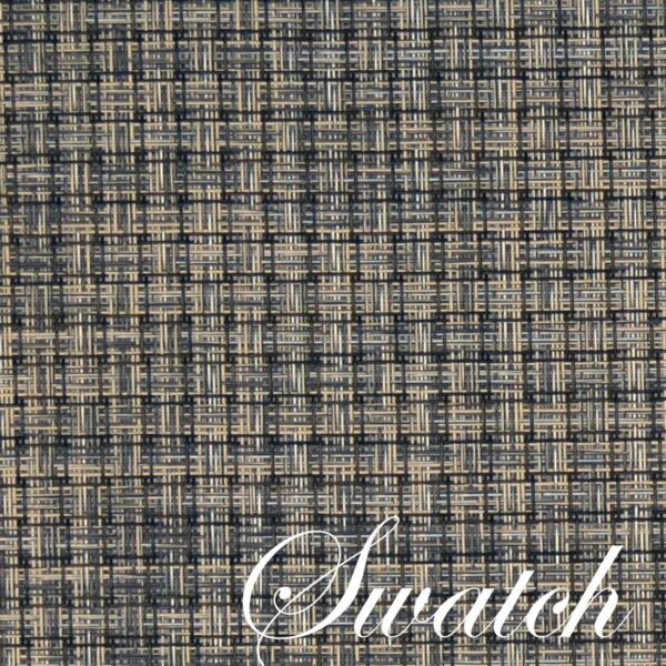 Sweet Pea Linens - Black, Gray & Tan Wipe Clean Wedge-Shaped Placemats - Set of Two (SKU#: RS2-1006-F32) - Swatch