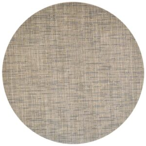Sweet Pea Linens - Putty & Blue Wipe Clean Charger-Center Round Placemat (SKU#: R-1015-F33) - Product Image