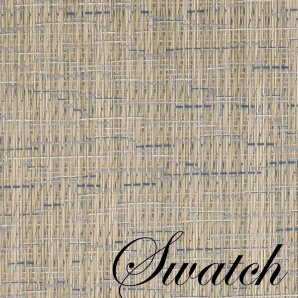 Sweet Pea Linens - Putty & Blue Wipe Clean Wedge-Shaped Placemats - Set of Four plus Center Round-Charger (SKU#: RS5-1006-F33) - Swatch