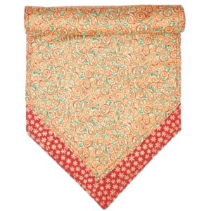 Sweet Pea Linens - Red & Green Swirl Holiday Print 54 inch Table Runner (SKU#: R-1020-H10) - Product Image