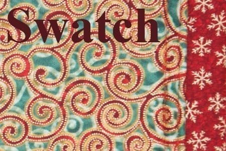 Sweet Pea Linens - Red & Green Swirl Holiday Print 54 inch Table Runner (SKU#: R-1020-H10) - Swatch