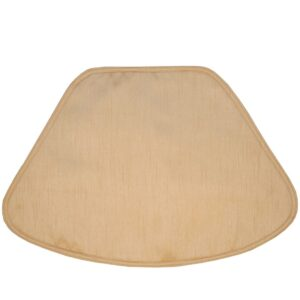 Sweet Pea Linens - Gold Shantung Wedge-Shaped Placemats - Set of Two (SKU#: RS2-1006-H14) - Product Image