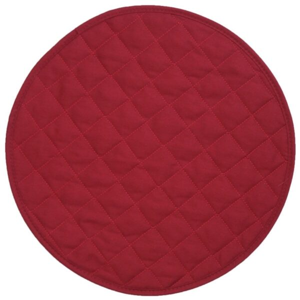 Sweet Pea Linens - Berry Quilted Charger-Center Round Placemat (SKU#: R-1015-H3) - Product Image