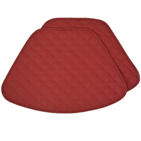 Sweet Pea Linens - Berry Quilted Wedge-Shaped Placemats - Set of Four plus Center Round-Charger (SKU#: RS5-1006-H3) - Product Image
