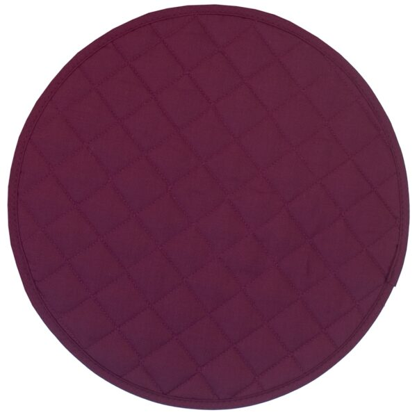 Sweet Pea Linens - Claret Quilted Charger-Center Round Placemat (SKU#: R-1015-H30) - Product Image