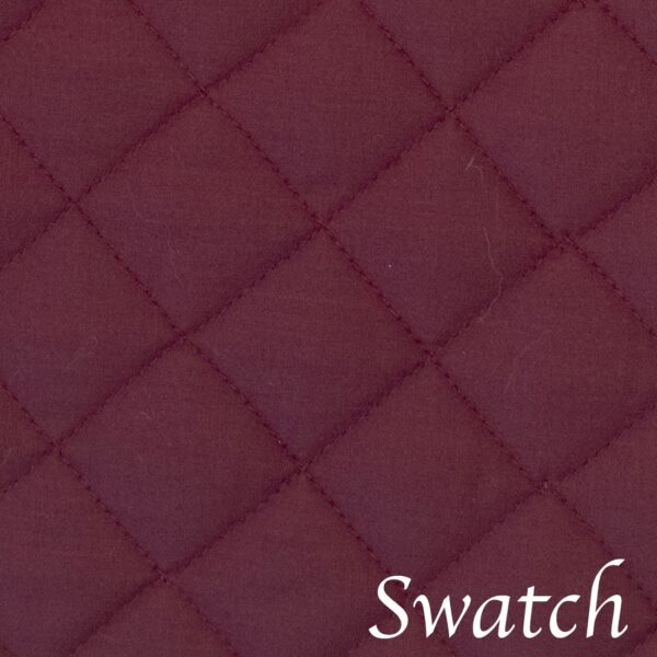 Sweet Pea Linens - Claret Quilted Charger-Center Round Placemat (SKU#: R-1015-H30) - Swatch