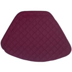 Sweet Pea Linens - Claret Quilted Wedge-Shaped Placemats - Set of Two (SKU#: RS2-1006-H30) - Product Image