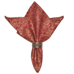 Sweet Pea Linens - Coordinating Mauve Swirl Cloth Napkin (SKU#: R-1010-H80) - Product Image