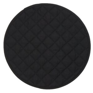 Sweet Pea Linens - Solid Black Quilted Charger-Center Round Placemat (SKU#: R-1015-J2) - Product Image