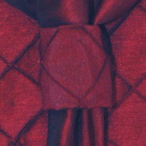 Sweet Pea Linens - Burgundy Wine Pintucked Napkin Ring (SKU#: R-1030-K1) - Product Image