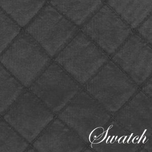 Sweet Pea Linens - Black Taffeta Pintucked Rectangle Placemats - Set of Two (SKU#: RS2-1002-K14) - Swatch