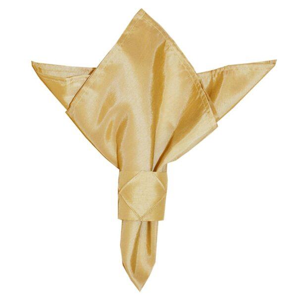 Sweet Pea Linens - Gold Shantung Cloth Napkin (SKU#: R-1010-K2) - Product Image