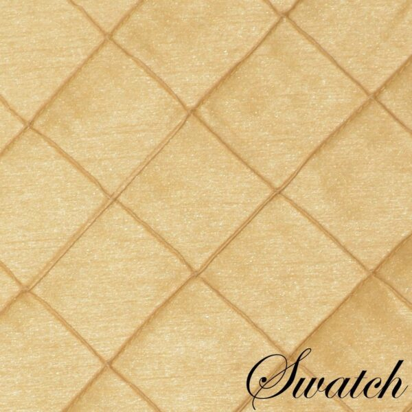 Sweet Pea Linens - Gold Pintucked 72 inch Table Runner (SKU#: R-1024-K2) - Swatch