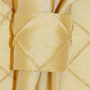 Sweet Pea Linens - Gold Pintucked Napkin Ring (SKU#: R-1030-K2) - Product Image