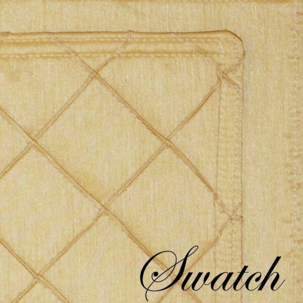 Sweet Pea Linens - Gold Pintucked Rectangle Placemats - Set of Two (SKU#: RS2-1002-K2) - Swatch