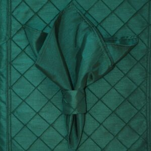 Sweet Pea Linens - Forest Green Shantung Cloth Napkin (SKU#: R-1010-K3) - Product Image