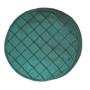 Sweet Pea Linens - Forest Green Pintucked Charger-Center Round Placemat (SKU#: R-1015-K3) - Product Image