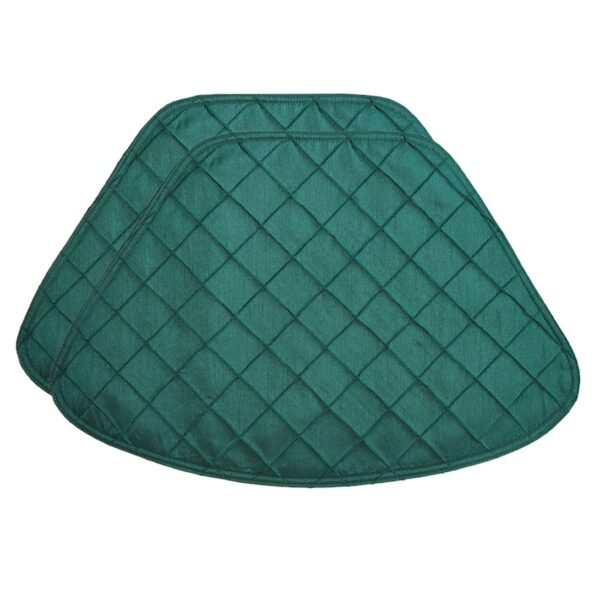 Sweet Pea Linens - Forest Green Pintucked Wedge-Shaped Placemats - Set of Two (SKU#: RS2-1006-K3) - Product Image
