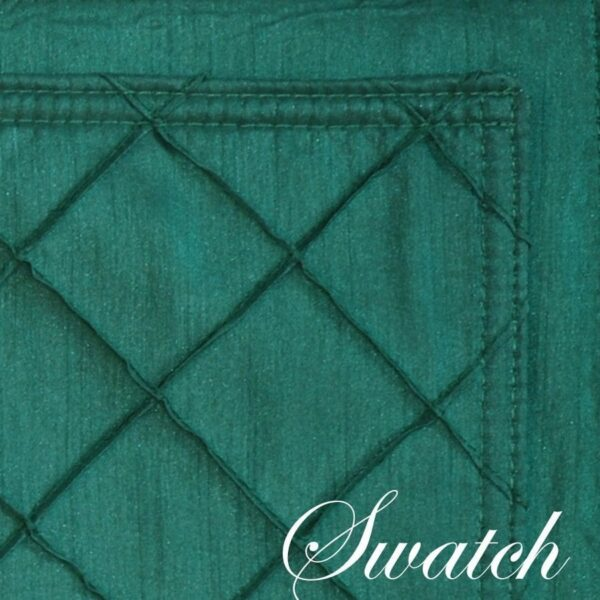 Sweet Pea Linens - Forest Green Pintucked Rectangle Placemats - Set of Four plus Center Round-Charger (SKU#: RS5-1002-K3) - Swatch