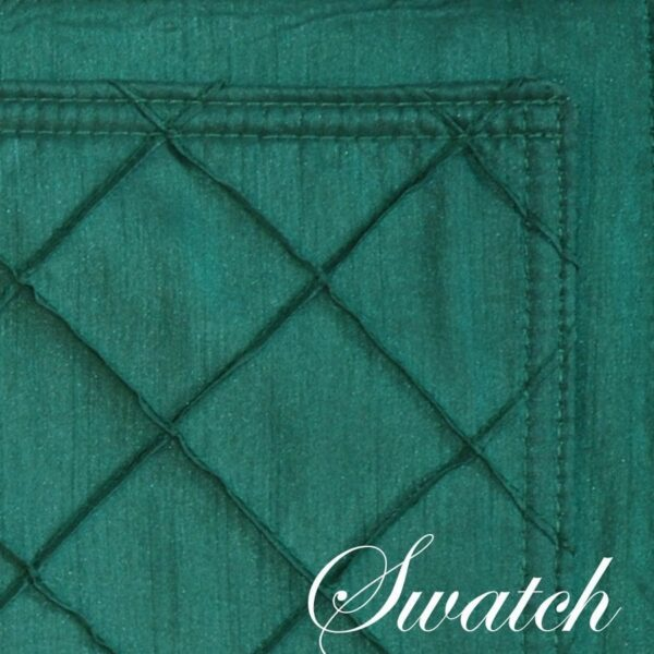 Sweet Pea Linens - Forest Green Pintucked Wedge-Shaped Placemats - Set of Four plus Center Round-Charger (SKU#: RS5-1006-K3) - Swatch