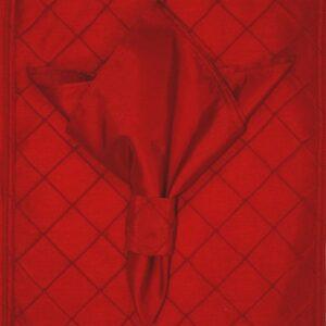 Sweet Pea Linens - Red Shantung Cloth Napkin (SKU#: R-1010-K4) - Product Image