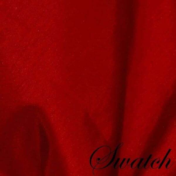 Sweet Pea Linens - Red Shantung Cloth Napkin (SKU#: R-1010-K4) - Swatch