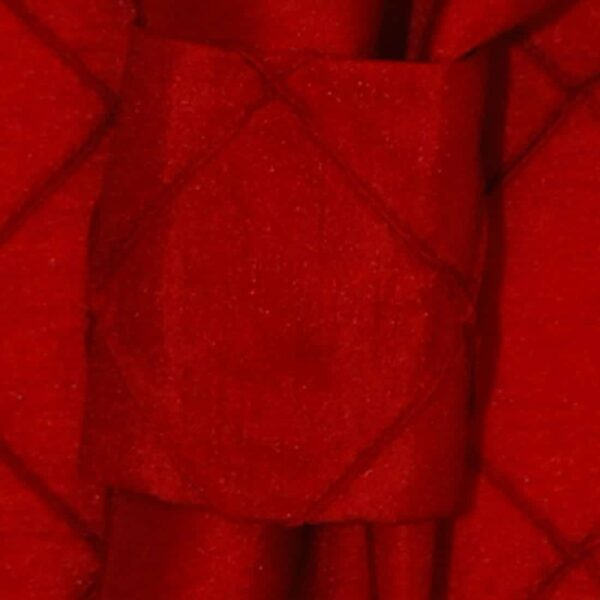 Sweet Pea Linens - Red Pintucked Napkin Ring (SKU#: R-1030-K4) - Product Image