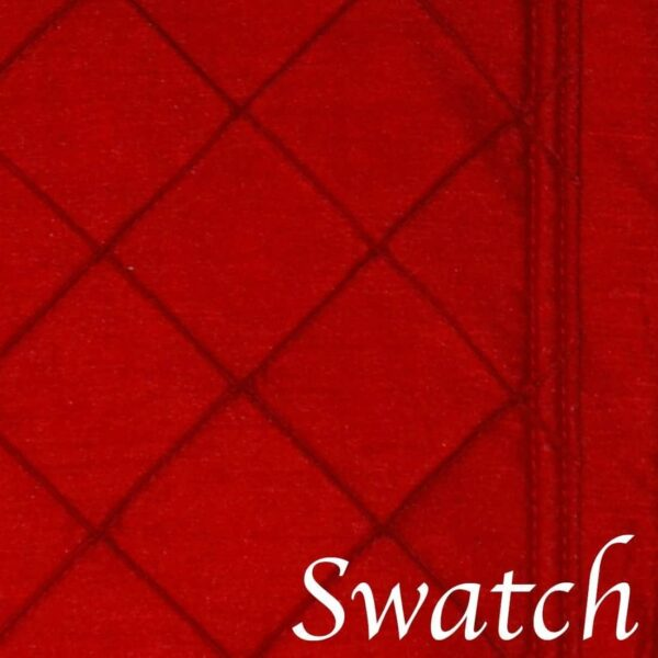 Sweet Pea Linens - Red Pintucked Rectangle Placemats - Set of Two (SKU#: RS2-1002-K4) - Swatch