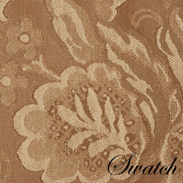 Sweet Pea Linens - Golden Brown Jacquard 72 inch Table Runner (SKU#: R-1024-L15) - Swatch