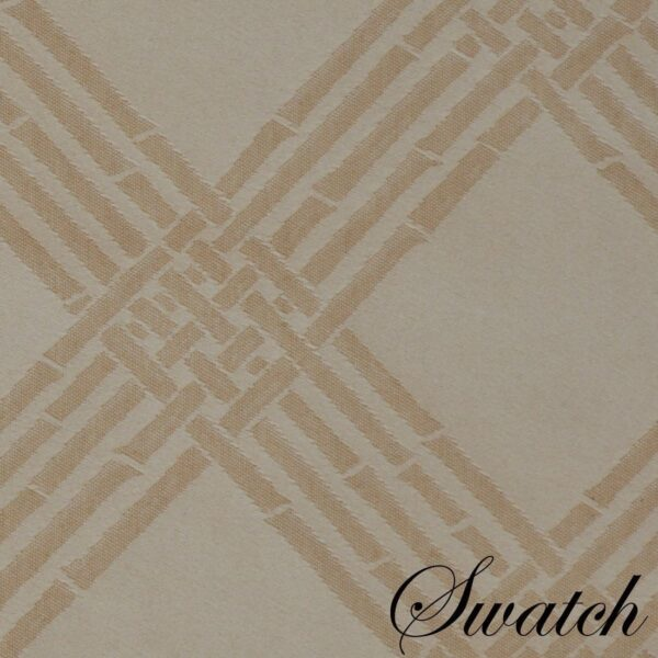 Sweet Pea Linens - Tan Lattice Jacquard Charger-Center Round Placemat (SKU#: R-1015-L21) - Swatch