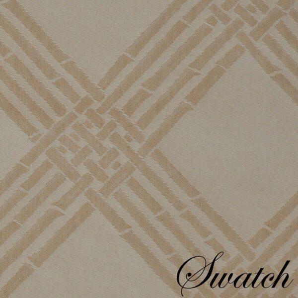 Sweet Pea Linens - Tan Lattice Jacquard 72 inch Table Runner (SKU#: R-1024-L21) - Swatch