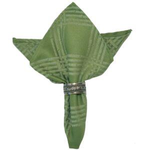 Sweet Pea Linens - Celery Green Lattice Jacquard Cloth Napkin (SKU#: R-1010-L22) - Product Image