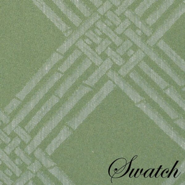 Sweet Pea Linens - Celery Green Lattice Jacquard Charger-Center Round Placemat (SKU#: R-1015-L22) - Swatch