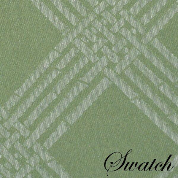Sweet Pea Linens - Celery Green Lattice Jacquard 72 inch Table Runner (SKU#: R-1024-L22) - Swatch