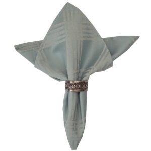 Sweet Pea Linens - Light Blue/Green Lattice Jacquard Cloth Napkin (SKU#: R-1010-L23) - Product Image