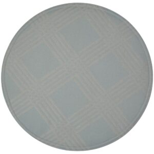 Sweet Pea Linens - Light Blue/Green Lattice Jacquard Charger-Center Round Placemat (SKU#: R-1015-L23) - Product Image