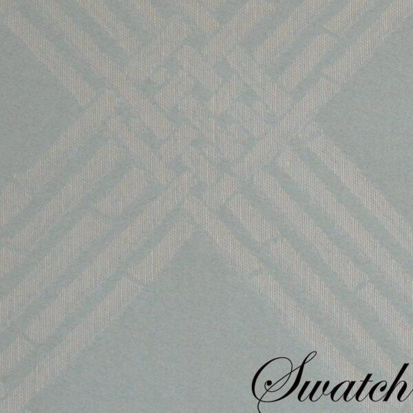 Sweet Pea Linens - Light Blue/Green Lattice Jacquard 72 inch Table Runner (SKU#: R-1024-L23) - Swatch
